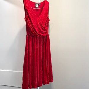 Red Anthropologie Dress